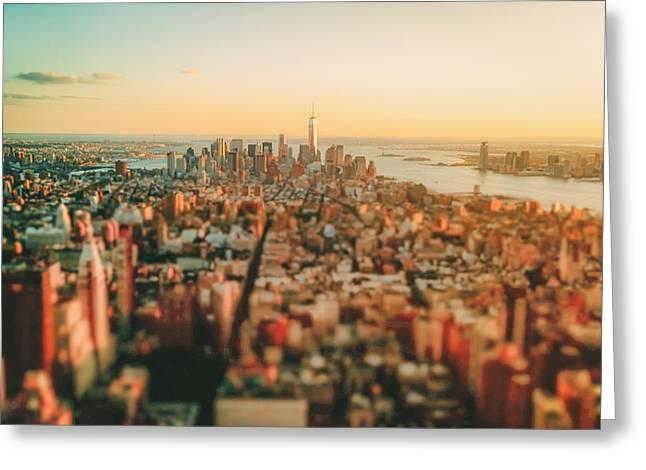 New York City - Sunset Over Manhattan's Skyline Greeting Card