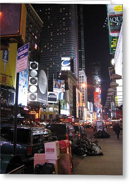 New York City - Times Square - 121223 Greeting Card by DC Photographer