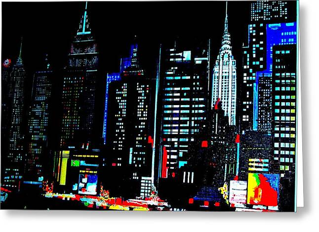 New York City  Greeting Card by Tony Bernabeo