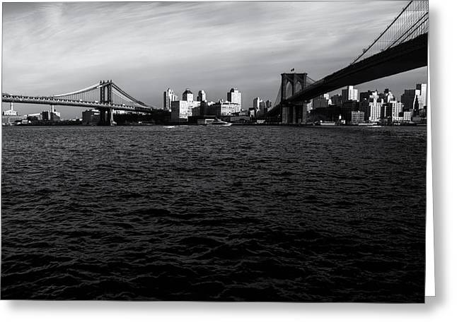 New York City - Two Bridges Greeting Card by Vivienne Gucwa