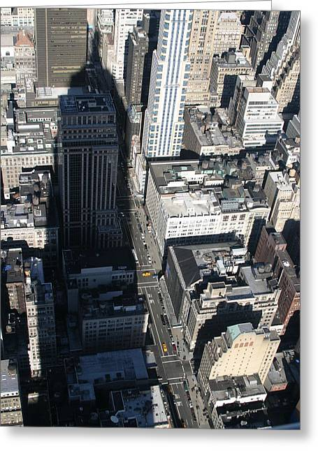 New York City - View From Empire State Building - 121213 Greeting Card by DC Photographer