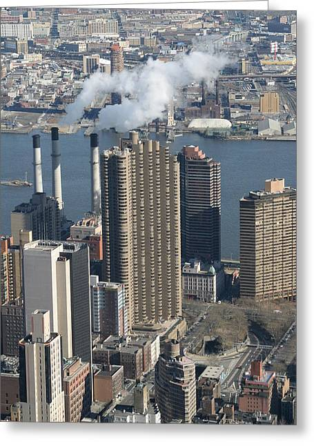 New York City - View From Empire State Building - 121215 Greeting Card by DC Photographer