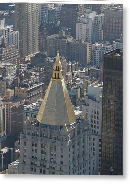 New York City - View From Empire State Building - 121216 Greeting Card by DC Photographer
