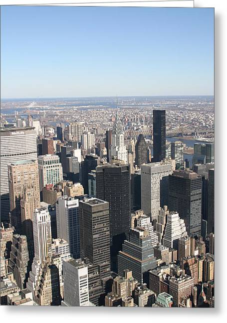 New York City - View From Empire State Building - 121217 Greeting Card by DC Photographer