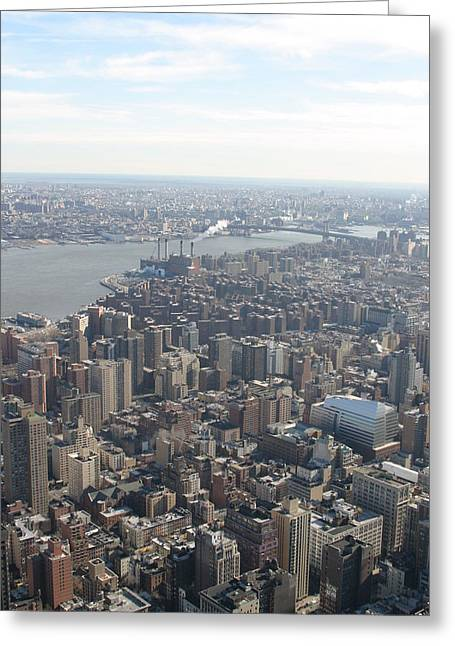 New York City - View From Empire State Building - 121221 Greeting Card by DC Photographer