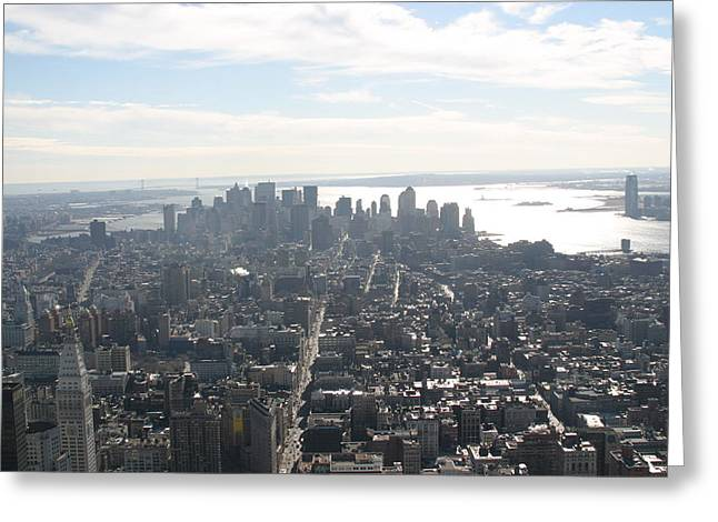 New York City - View From Empire State Building - 121222 Greeting Card by DC Photographer