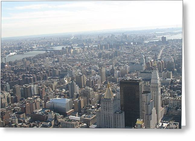 New York City - View From Empire State Building - 121223 Greeting Card by DC Photographer