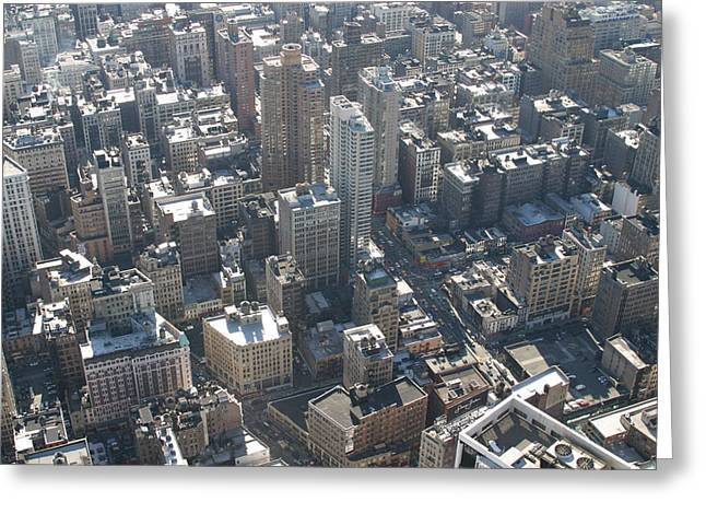 New York City - View From Empire State Building - 121226 Greeting Card by DC Photographer