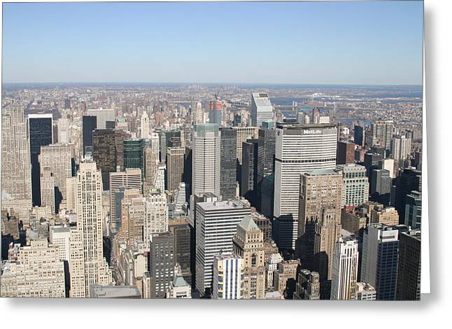 New York City - View From Empire State Building - 12127 Greeting Card