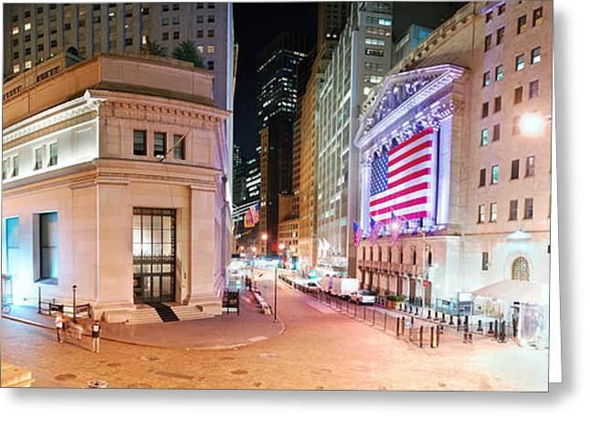 New York City Wall Street Panorama Greeting Card