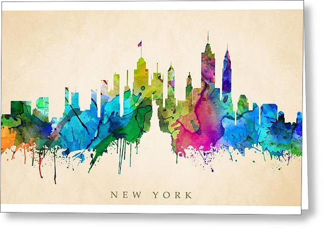 Steve Will Greeting Cards - New York Cityscape Greeting Card by Steve Will