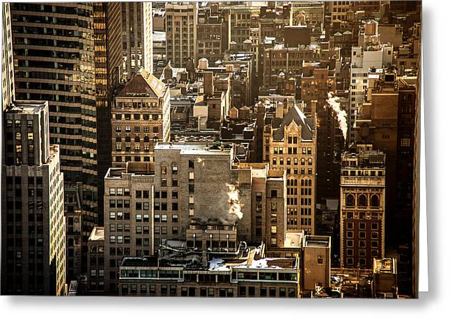 New York Cityscape Greeting Card by Vivienne Gucwa