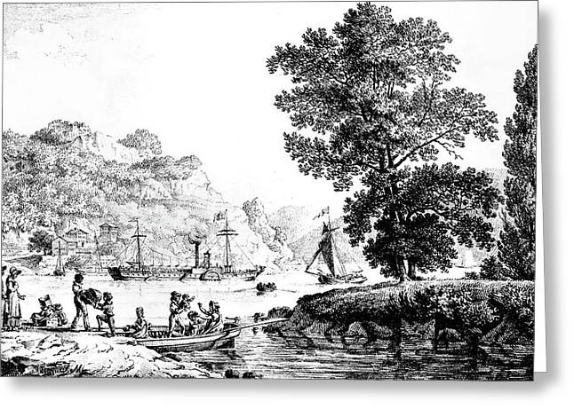 New York 'clermont,' C1810 Greeting Card