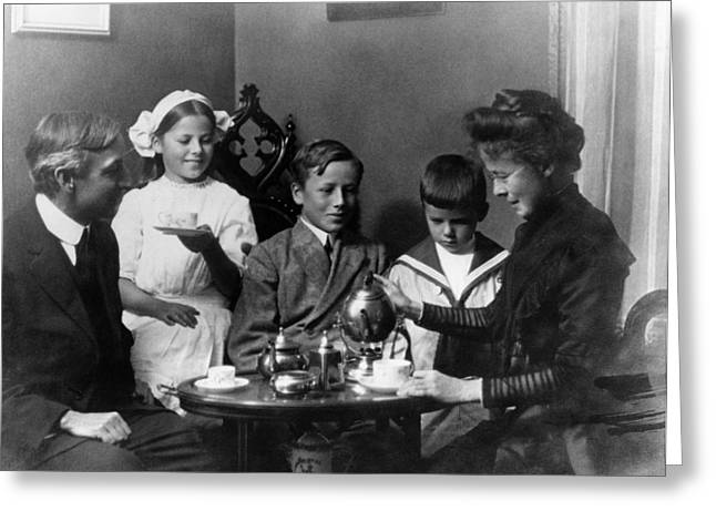 New York Family, 1911 Greeting Card