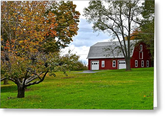 New York Farm Greeting Card by Frozen in Time Fine Art Photography