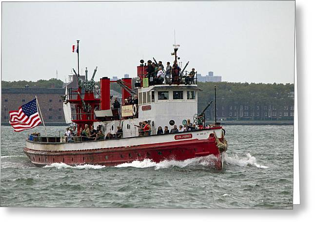 New York Fire Boat Nyc Greeting Card