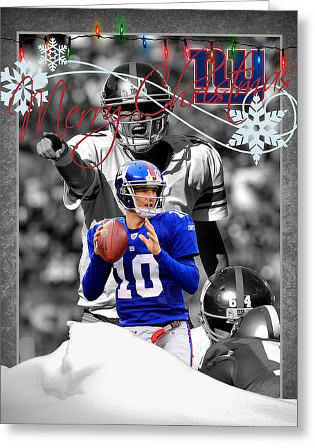 New York Giants Christmas Card Greeting Card