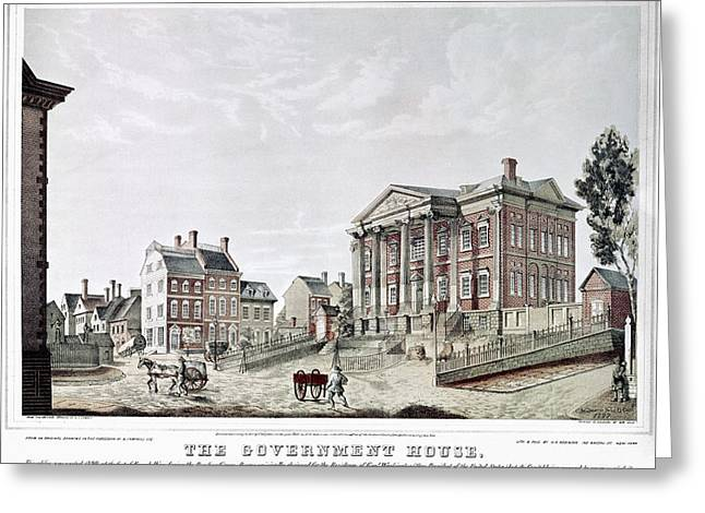 New York Government House Greeting Card by Granger