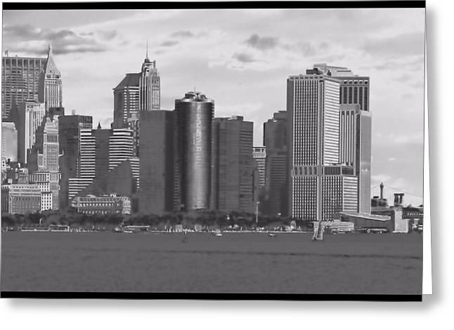 New York Harbor Greeting Card by Dan Sproul