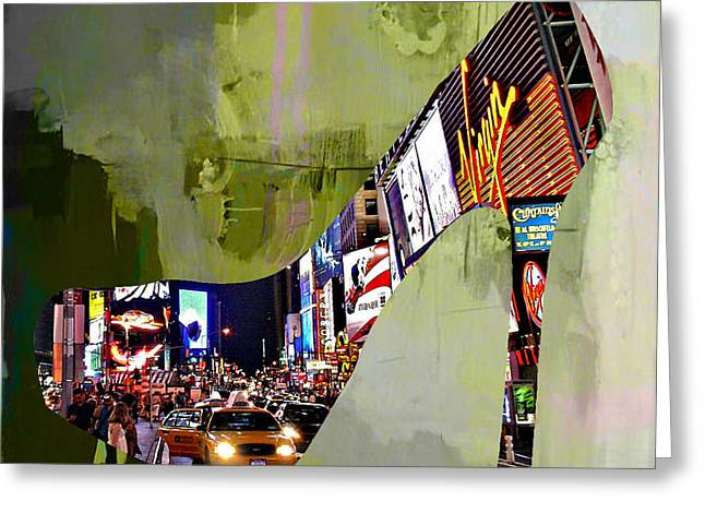 New York In A Shoe Greeting Card by Marvin Blaine