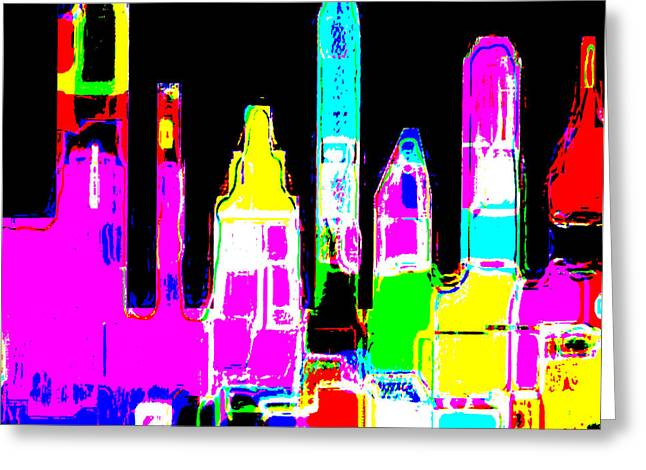 New York Is Rejoicing Greeting Card by Jean-Claude Delhaise