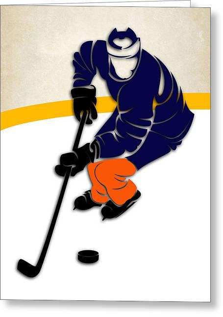 New York Islanders Rink Greeting Card by Joe Hamilton