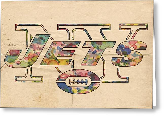 New York Jets Poster Vintage Greeting Card