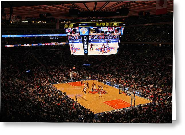New York Knicks Greeting Card by Juergen Roth