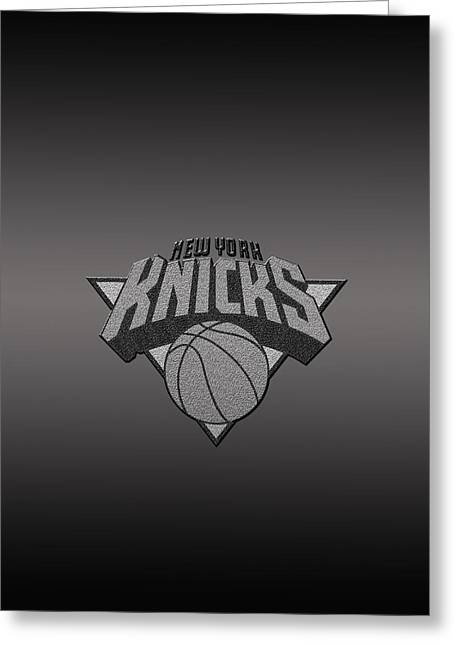 New York Knicks Greeting Card by Paulo Goncalves
