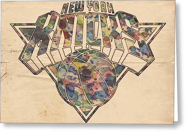 New York Knicks Poster Art Greeting Card by Florian Rodarte
