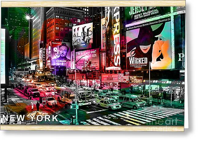 New York Landscape Painting Greeting Card