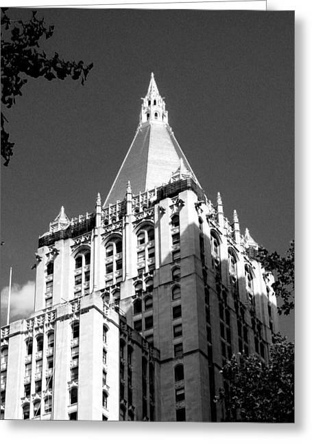 New York Life Insurance Tower Greeting Card