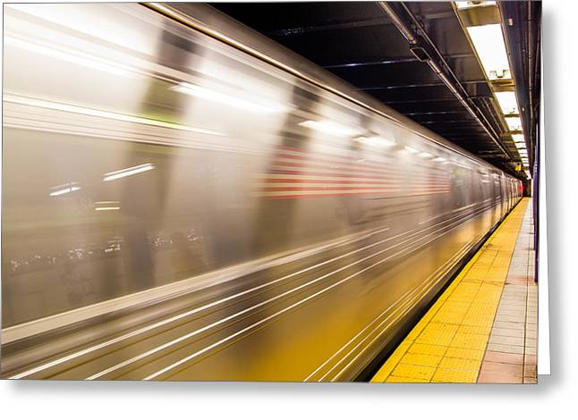 New York Metropolitan Underground Transportation Greeting Card