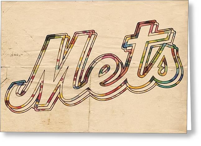 New York Mets Logo Vintage Greeting Card