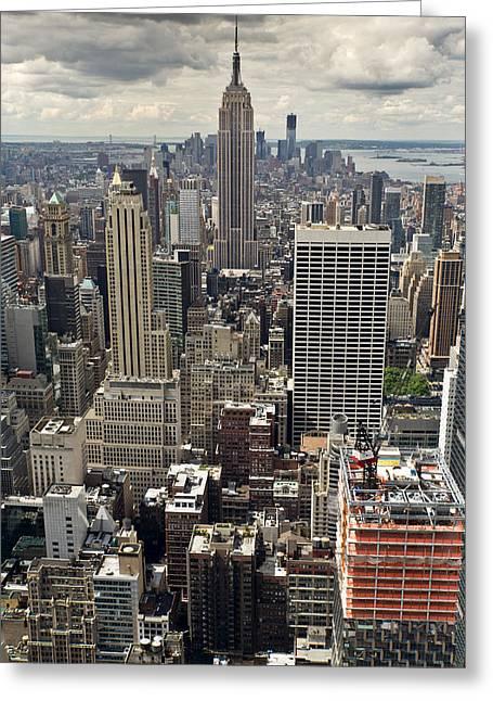 New York Midtown Skyscrapers Greeting Card