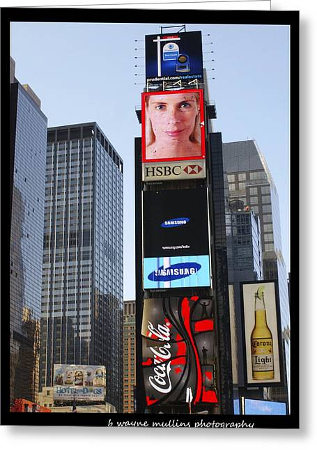 Greeting Card featuring the photograph New York New York by B Wayne Mullins