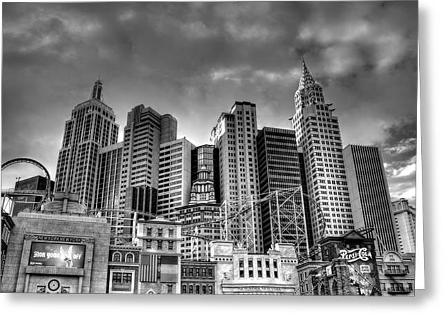 New York New York Black And White Greeting Card