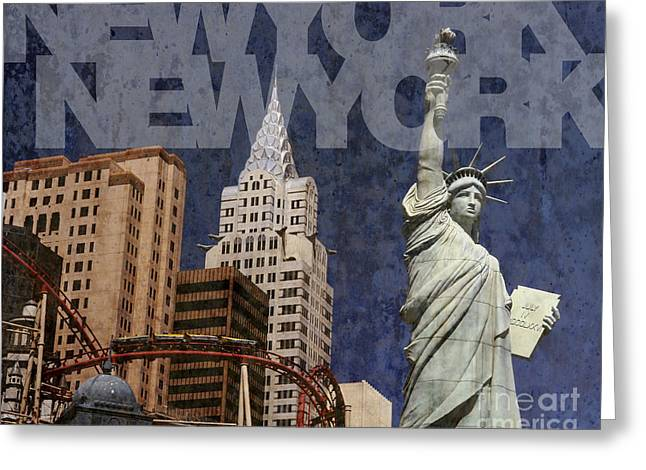 New York New York Las Vegas Greeting Card