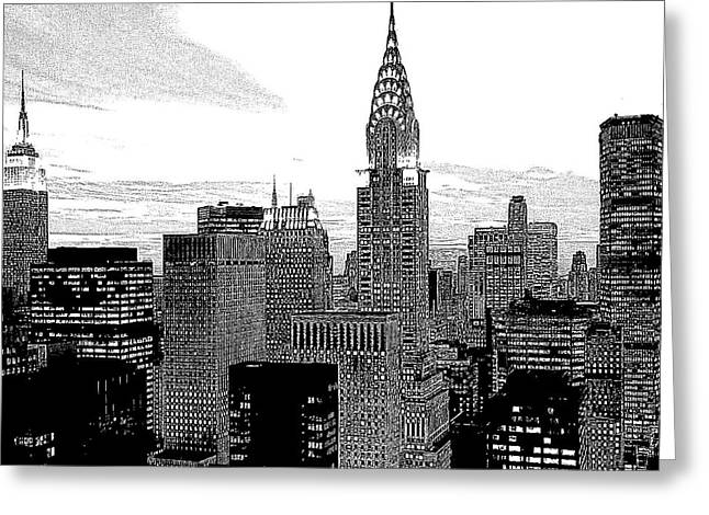 New York Greeting Card by Penny Ovenden