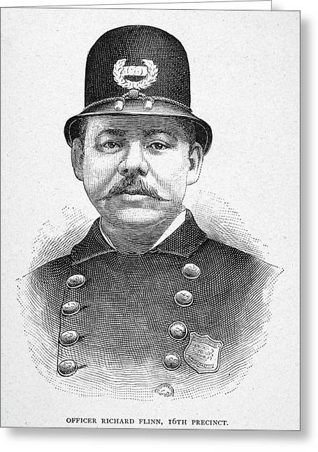 New York Police Officer Greeting Card by Granger