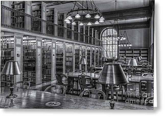 New York Public Library Genealogy Room II Greeting Card by Clarence Holmes