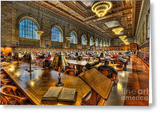 New York Public Library Main Reading Room IIi Greeting Card