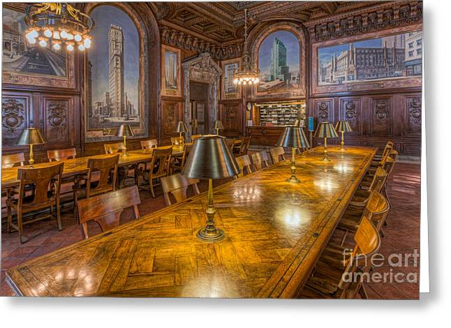 New York Public Library Periodicals Room I Greeting Card by Clarence Holmes