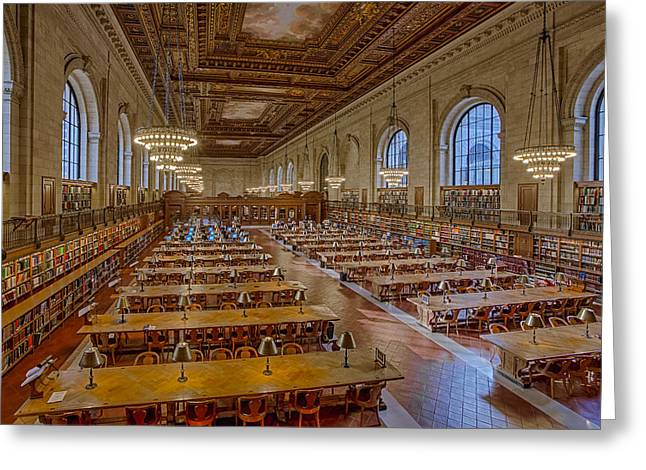 New York Public Library Rose Room  Greeting Card by Susan Candelario