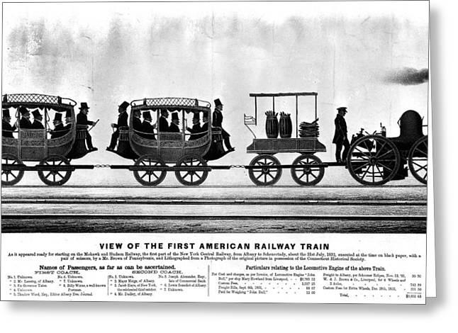 New York Railroad, 1832 Greeting Card