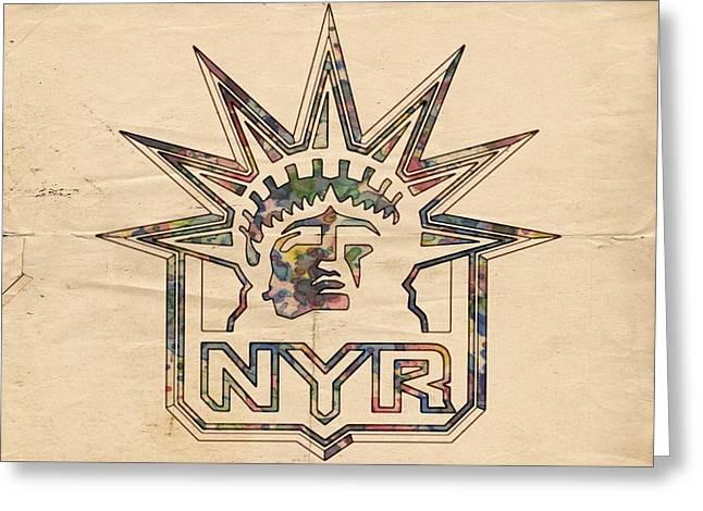 New York Rangers Vintage Poster Greeting Card