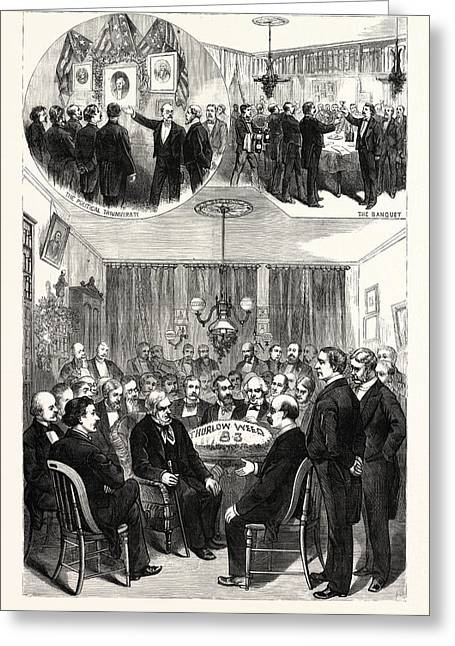 New York Reception Given By The Press Club To Thurlow Weed Greeting Card