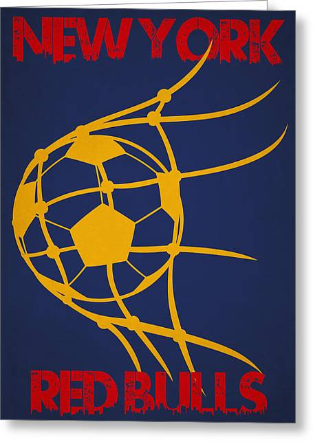 New York Red Bulls Goal Greeting Card by Joe Hamilton