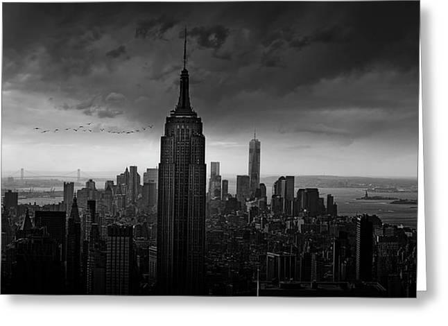New York Rockefeller View Greeting Card by Wim Schuurmans