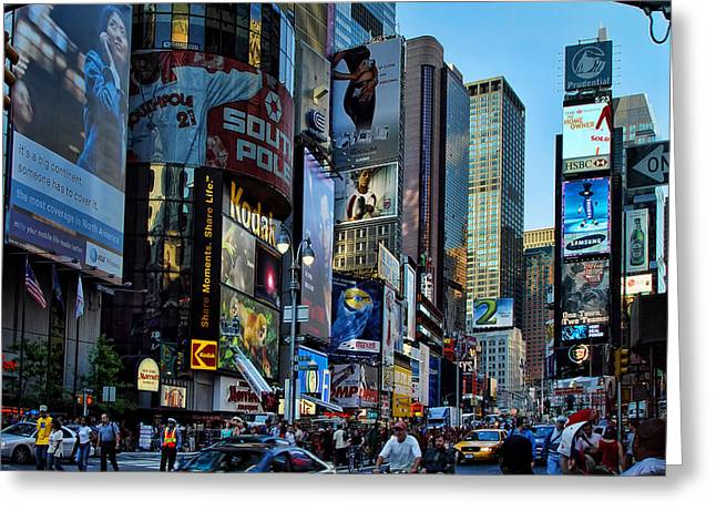 New York Rush Hour Greeting Card